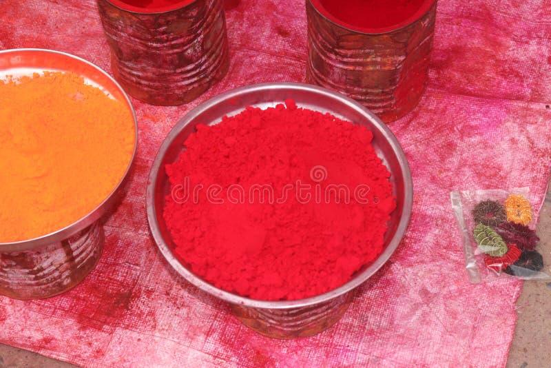 Colore rosso di yello nel boul India fotografia stock libera da diritti