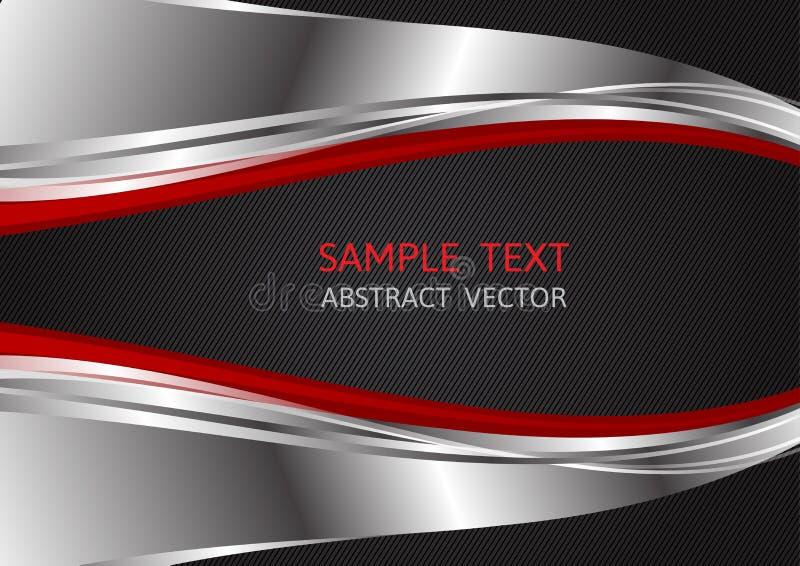 Colore rosso e nero dell'argento, fondo astratto di vettore con lo spazio della copia per l'affare, progettazione grafica illustrazione vettoriale