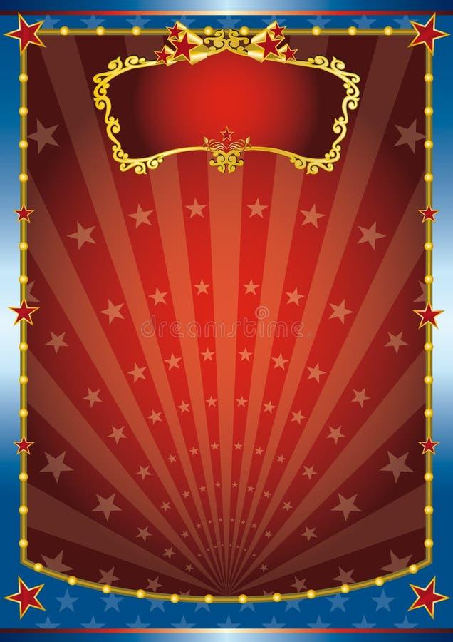 Colore rosso ed esposizione blu royalty illustrazione gratis