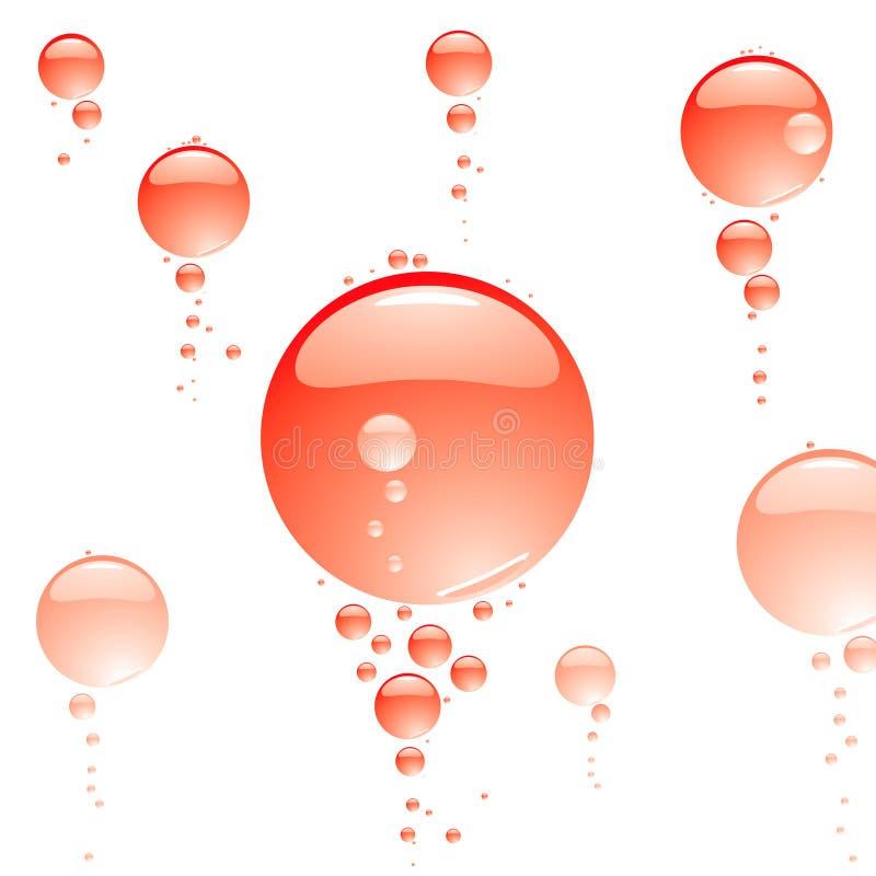 Colore rosso libero della bolla illustrazione vettoriale