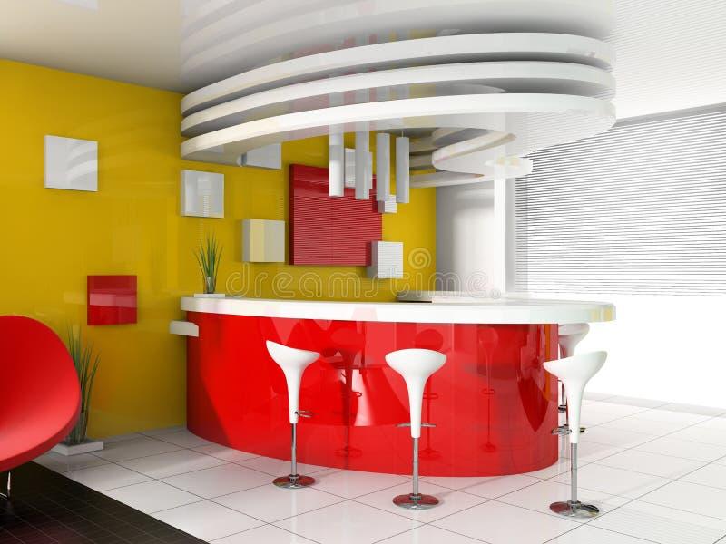 colore rosso moderno di ricezione dell'hotel royalty illustrazione gratis