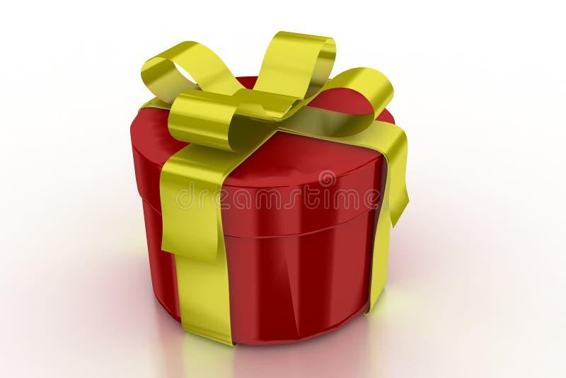 Colore rosso presente con il nastro dorato illustrazione vettoriale