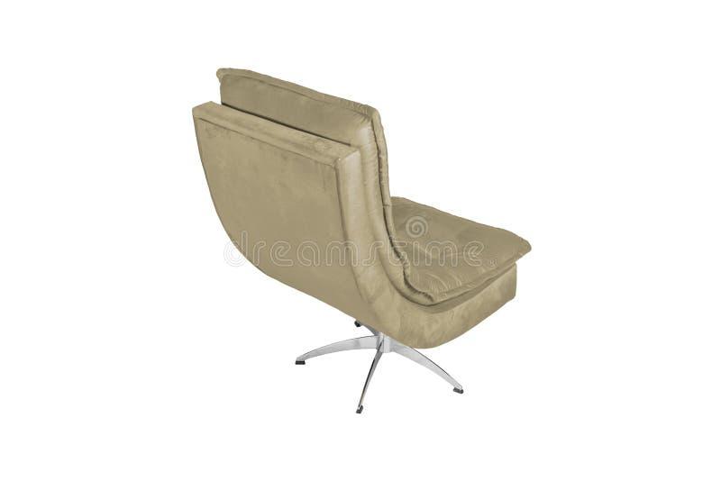 Colore Sofa Armchair isolato su fondo bianco fotografia stock
