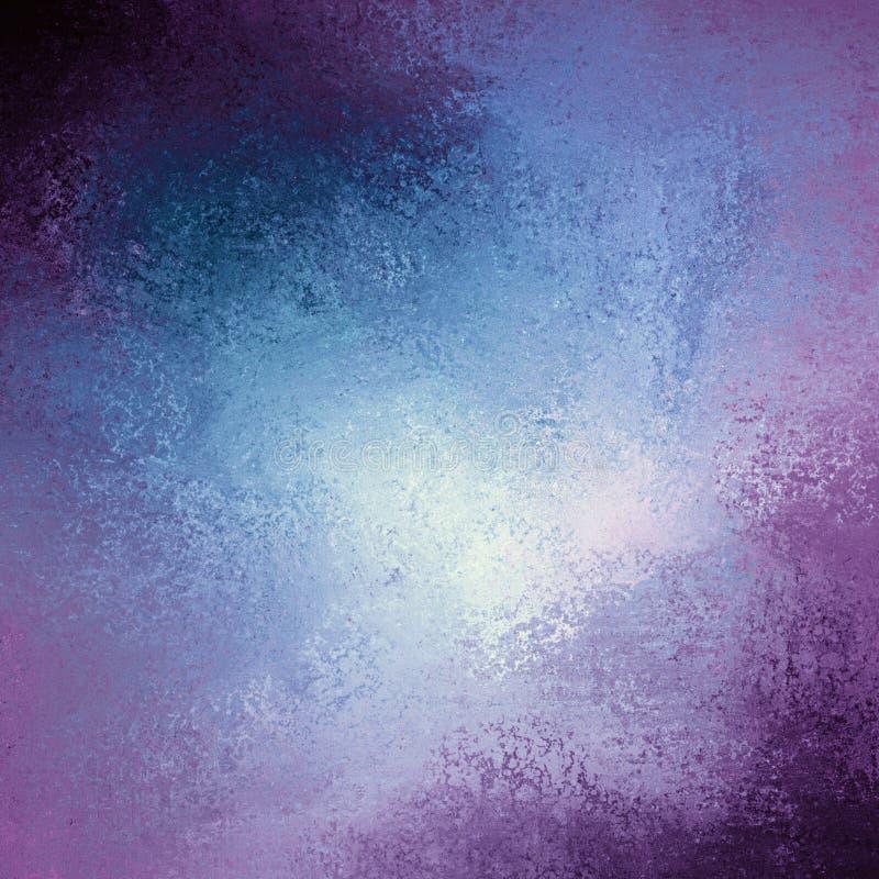 Colore tonificato porpora e blu rosa del fondo con struttura d'annata del fondo di lerciume illustrazione vettoriale