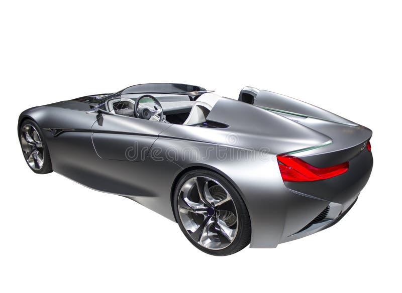 Colore veloce dell'argento dell'automobile sportiva del nuovo modello isolato immagine stock