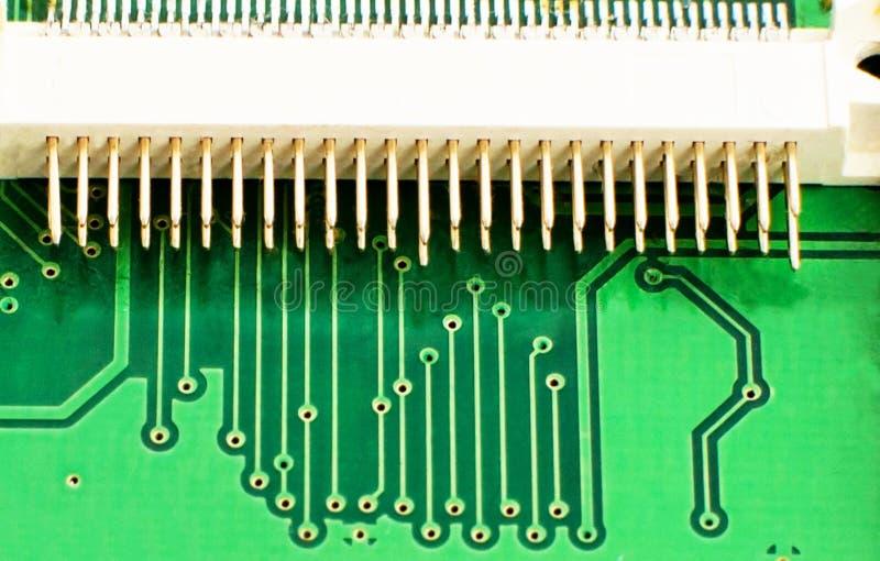 Colore verde del microcircuito elettronico fotografie stock