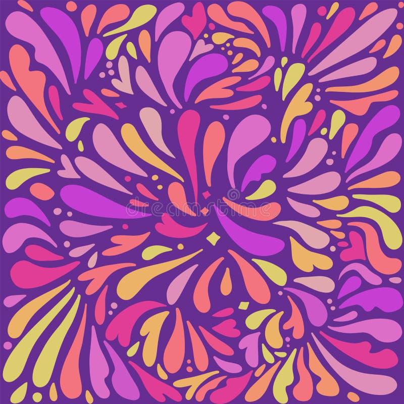 Colore vettoriale Colori vibranti La pittura Holi spruzza o fa cadere lo sfondo delle festività in stile piatto illustrazione vettoriale