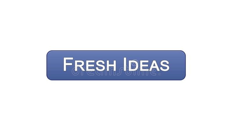Colore viola del bottone dell'interfaccia di web di idee originali, lampo di genio di affari, creatività royalty illustrazione gratis