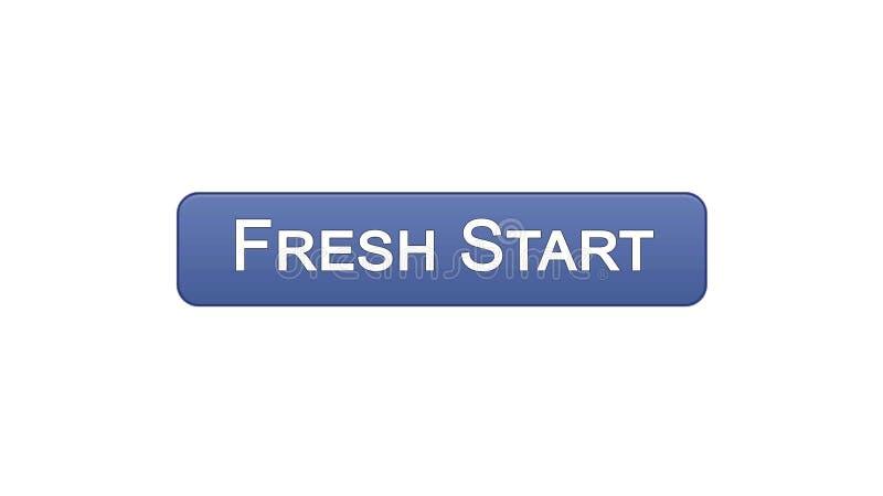 Colore viola del bottone dell'interfaccia di web di nuovo inizio, innovazione di affari, progettazione del sito royalty illustrazione gratis