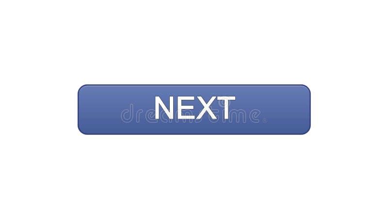 Colore viola di web del bottone seguente dell'interfaccia, progettazione del sito internet, programma online illustrazione vettoriale