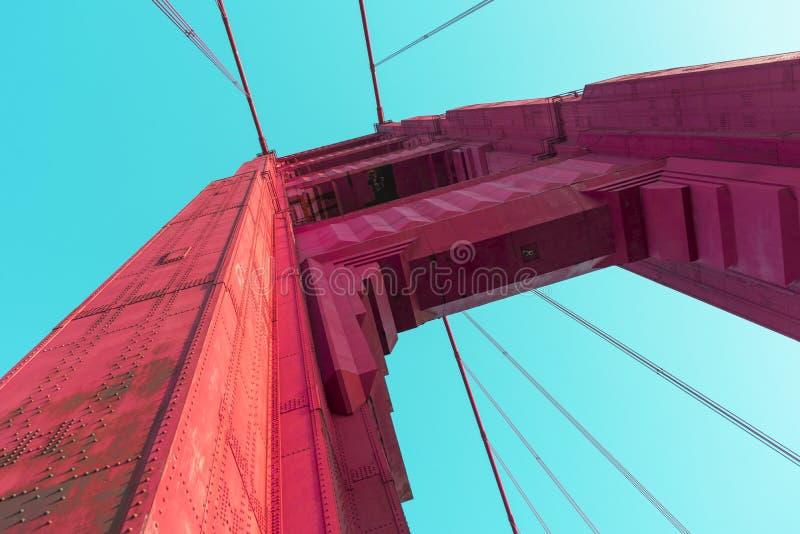 Colore vivo astratto della struttura della colonna di golden gate bridge fotografia stock libera da diritti