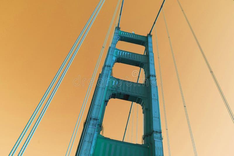 Colore vivo astratto della struttura della colonna di golden gate bridge immagini stock libere da diritti
