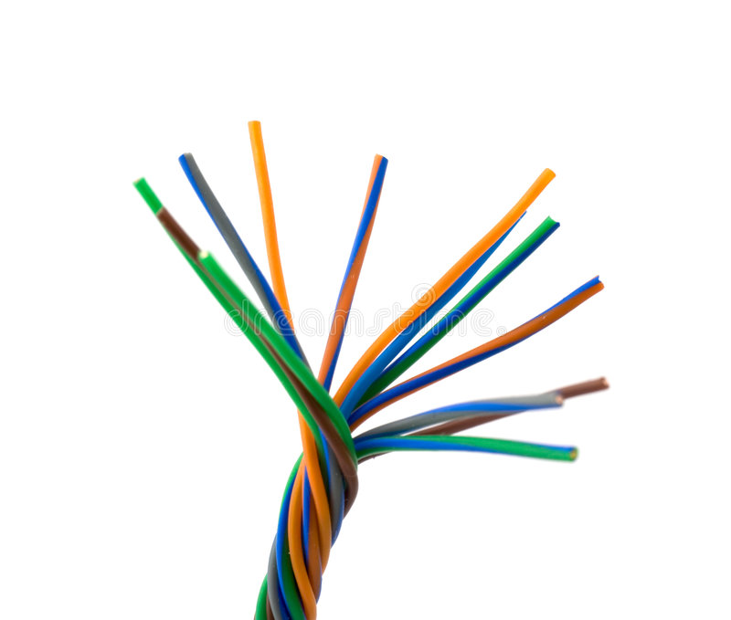 Colore wires stock photos