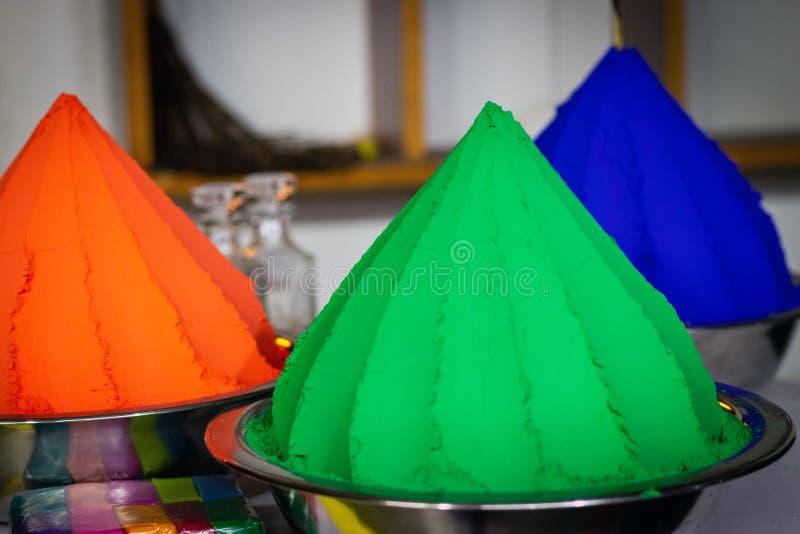Colorea verde y anaranjado foto de archivo