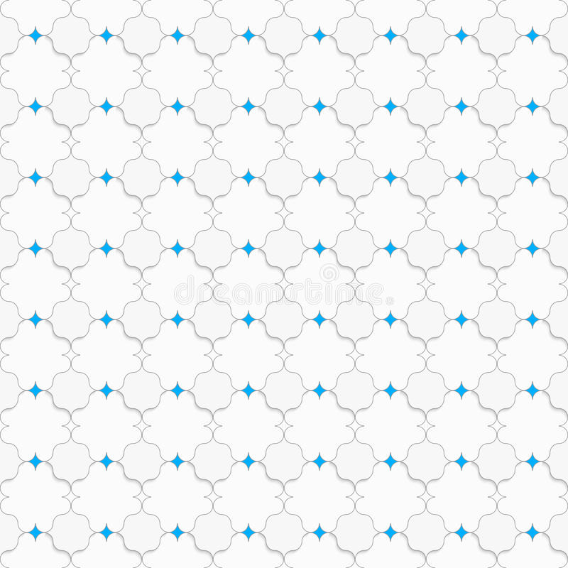 Coloreado con los cuadrados puntiagudos azules en blanco stock de ilustración