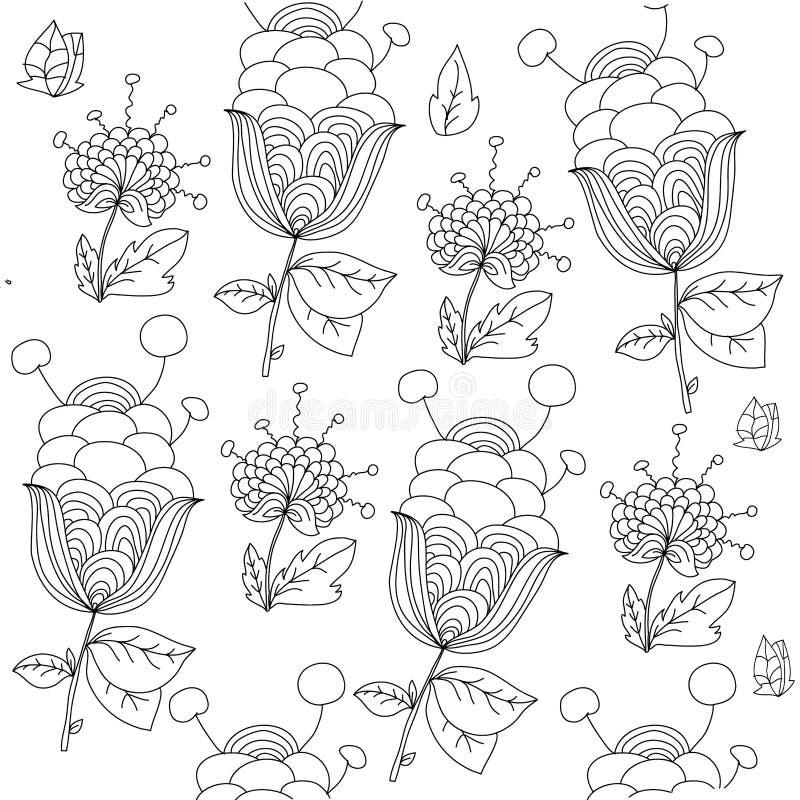 coloreado floral ilustración del vector