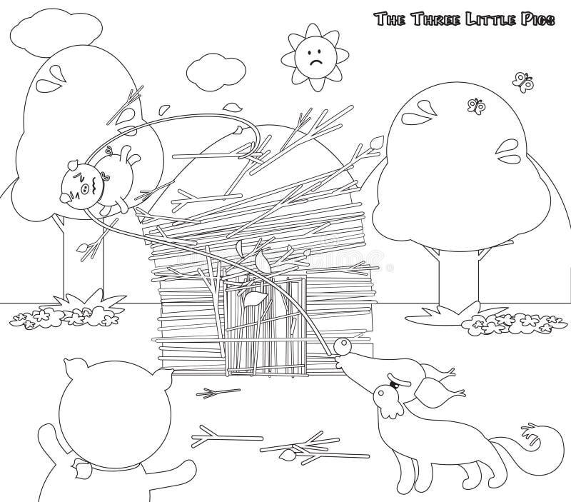 Lujo Tres Pequeños Lobos Cerdos Para Colorear Ornamento - Dibujos ...