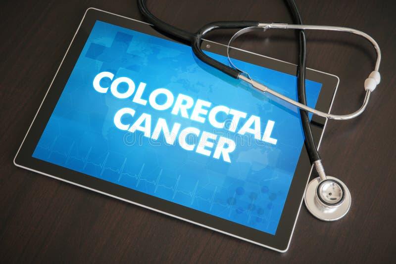 Colorectal nowotwór diagnoza medyczny c (gastrointestinal choroba) ilustracja wektor