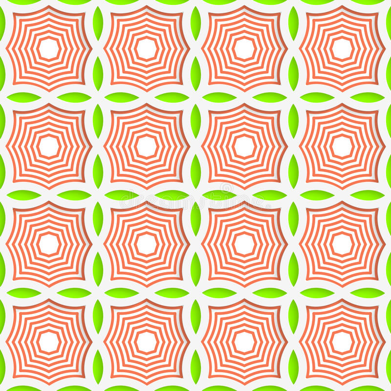 Free Colored 3D Green And Orange Striped Pointy Squares Royalty Free Stock Images - 60400219