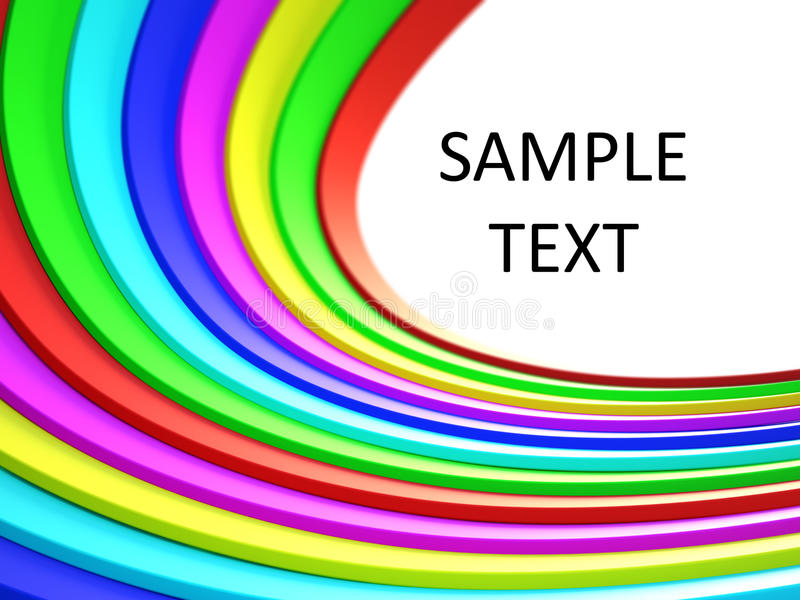 Colored 3d Lines Royalty Free Stock Photography