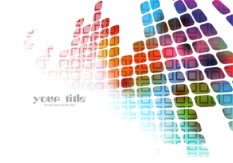 Colored abstract background stock illustration