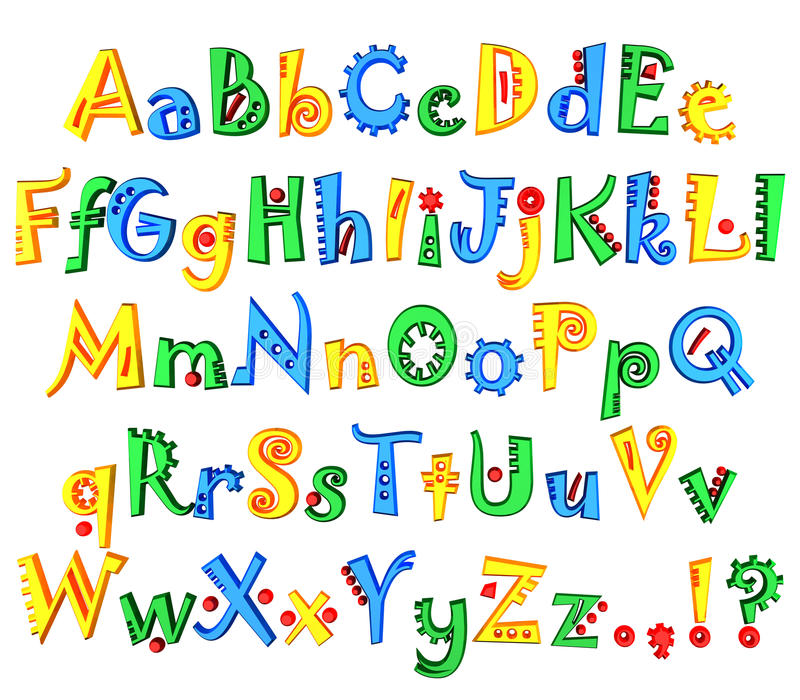 Download Colored Alphabet Royalty Free Stock Image - Image: 16260756