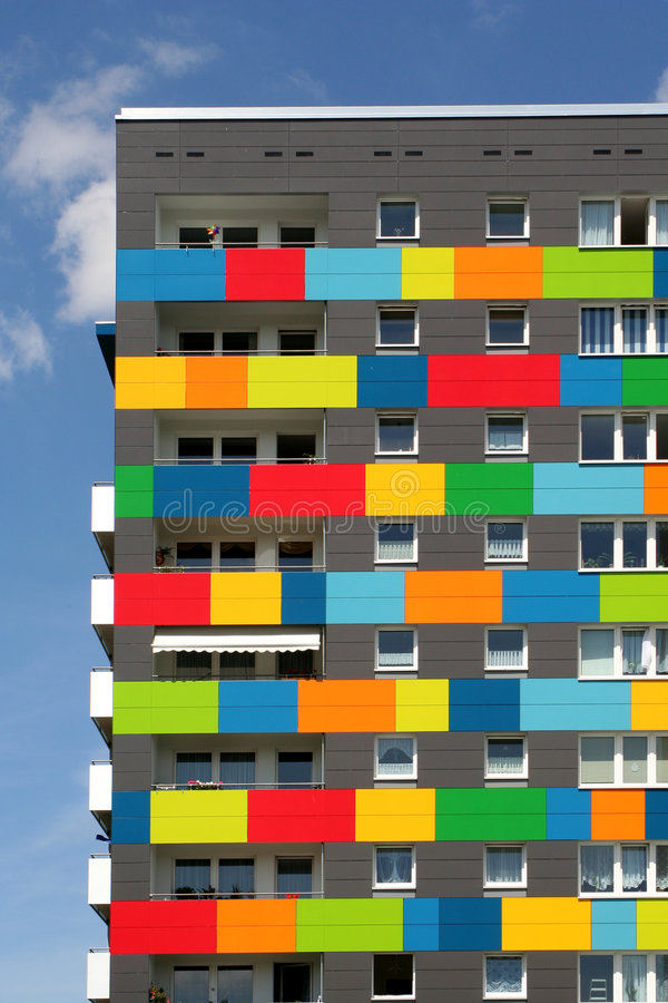 Download Colored apartments stock photo. Image of apartment, windows - 177316