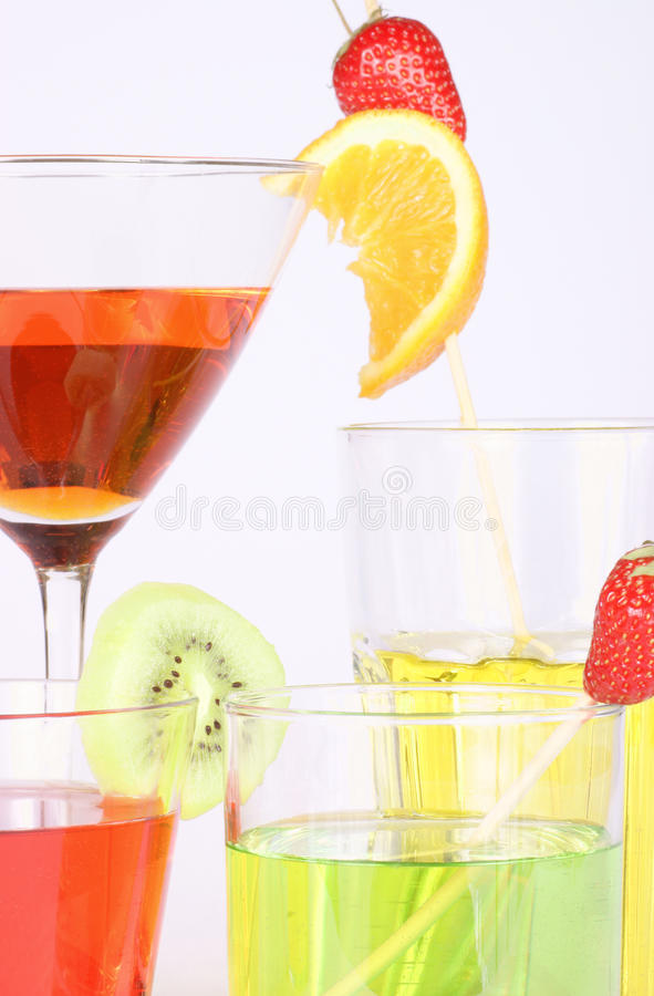 Download Colored Aperitifs In Different Drinking Glasses Stock Image - Image: 14772113