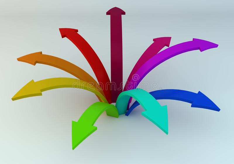 Download Colored arrows stock illustration. Image of green, competition - 26579907