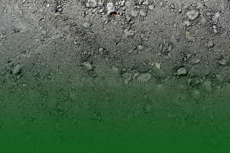 Colored asphalt texture. Green gradient abstract background royalty free stock images