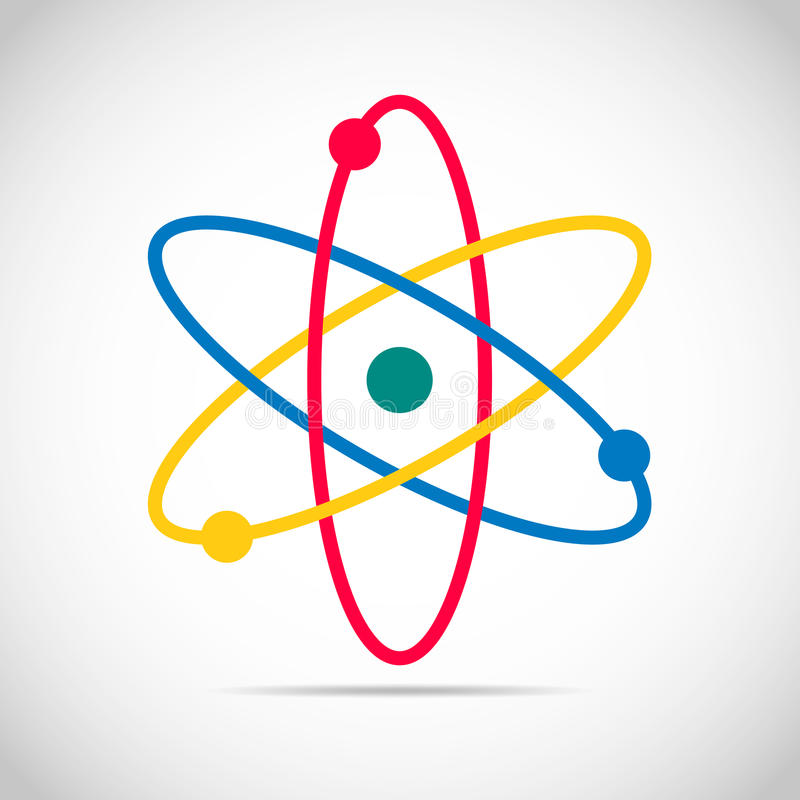 Free Colored Atom Icon. Vector Illustration. Royalty Free Stock Photos - 80149068