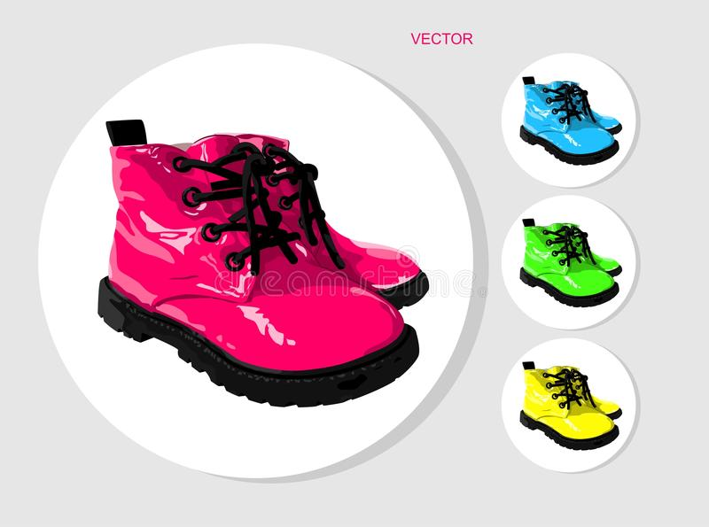 Colored baby boots royalty free stock photo