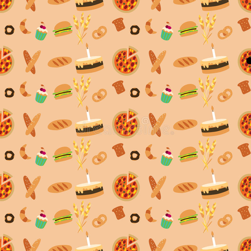 Colored bakery seamless pattern