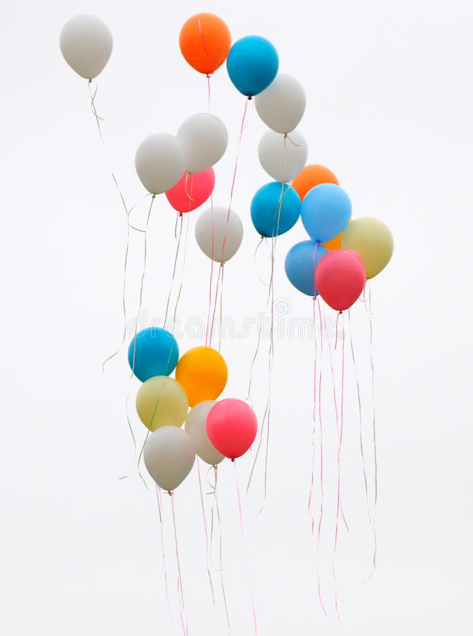 Colored ballons royalty free stock photo