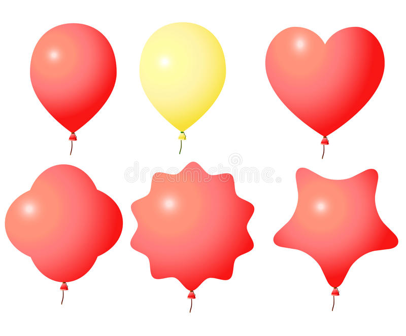 Colored balloons stock illustration