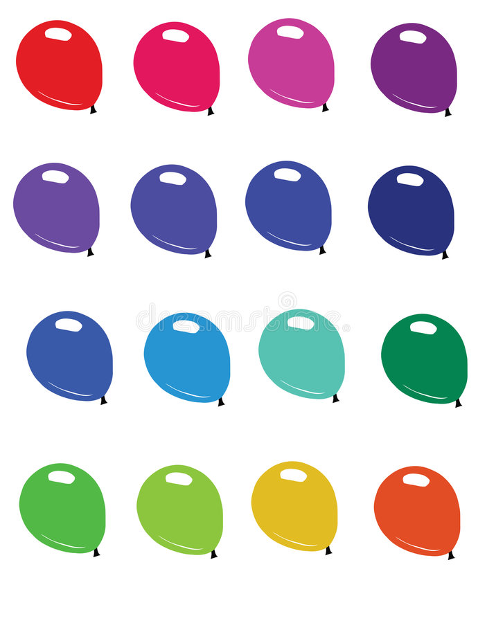 Colored Balloons royalty free illustration