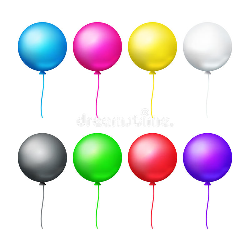 Free Colored Balloons Set Stock Image - 77389731