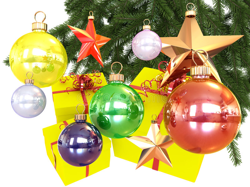 Download Colored Balls And Stars Stock Photos - Image: 7186333