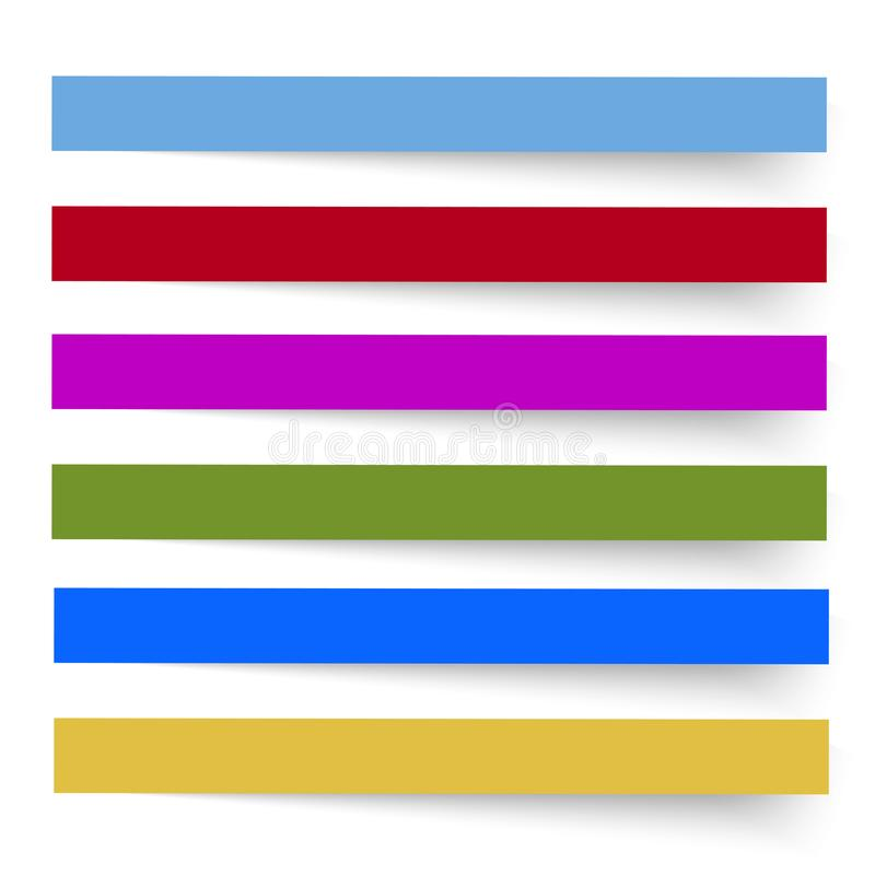 Colored banners on the white background. Vector.  vector illustration