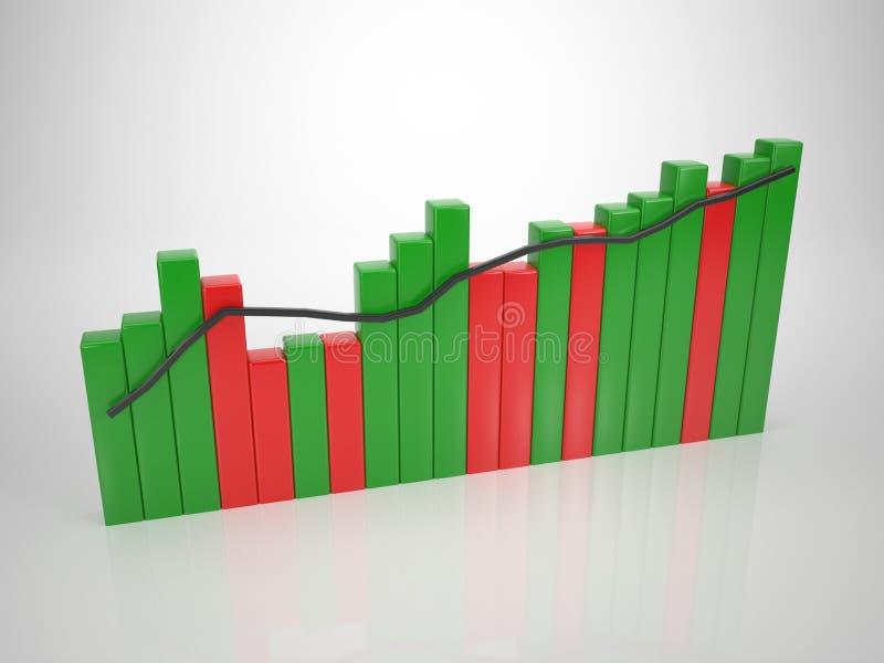 Download Colored Bar Diagram - Tendency Up Stock Illustration - Illustration of goal, concept: 30764757
