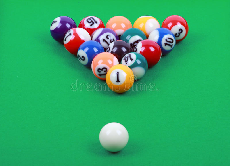 Download Colored billiard balls stock photo. Image of eight, readiness - 22593352