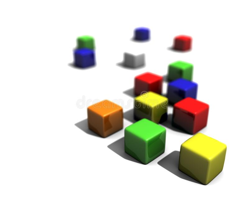 Colored Blocks Royalty Free Stock Images