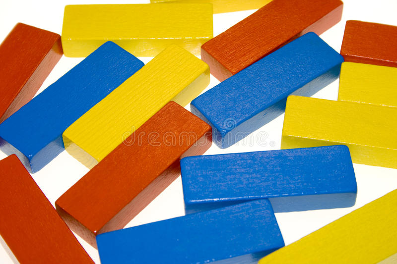 Colored blocks stock photos