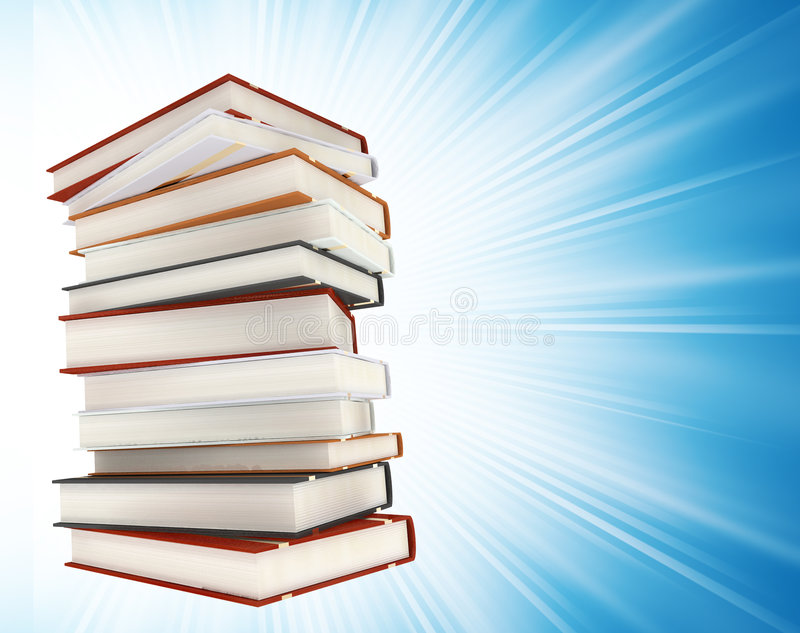 Download Colored Books On Background Stock Photo - Image: 4050508