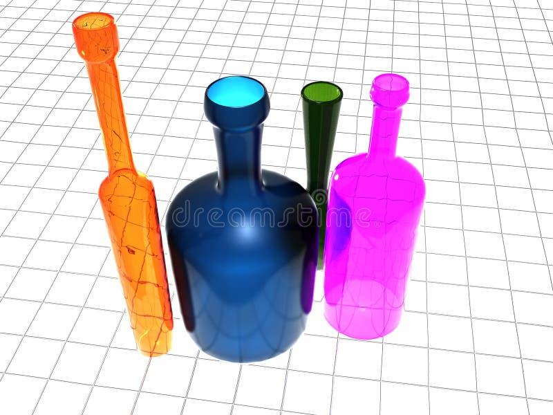 Download Colored bottles stock illustration. Image of front, cristal - 19720413