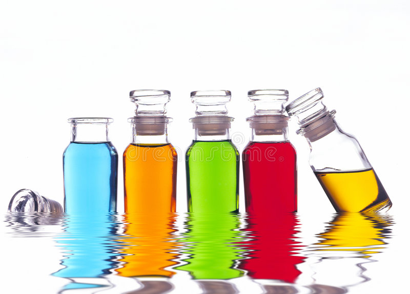 Download Colored Bottles Stock Photo - Image: 2305210