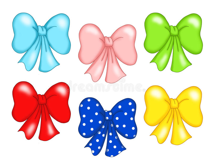 Colored bow stock image