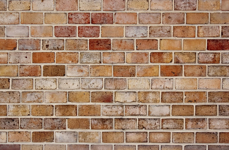Colored brick wall. Image of the brick walling - detail stock photography