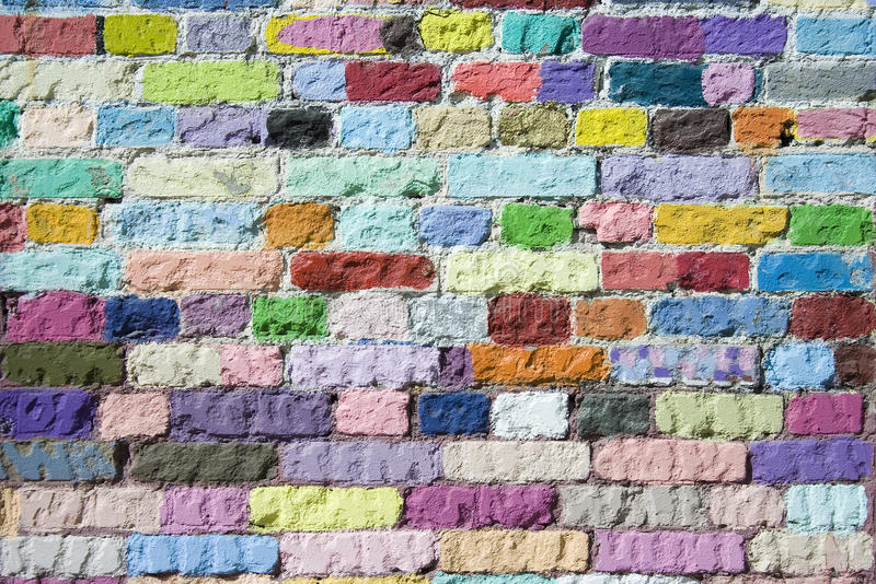 Download Colored bricks pattern stock photo. Image of backdrop - 31426342