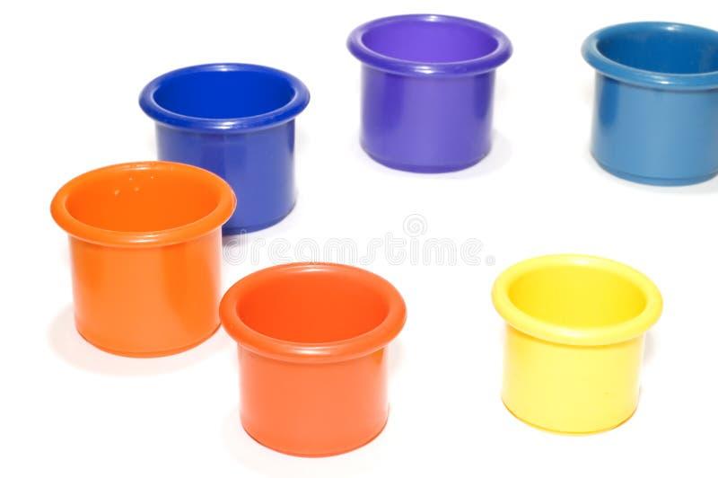 Colored bucket stock photos